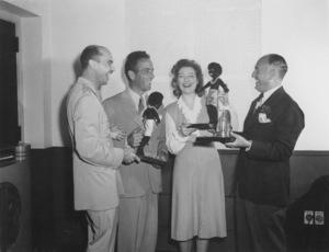 Humphrey Bogart, Greer Garson, and Jack Warner at NBC Radiocirca 1940MPTV - Image 0015_1159