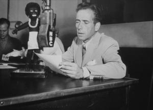 Humphrey Bogart at NBC Radio, circa 1940.MPTV - Image 0015_1160