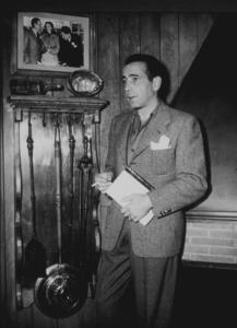 Humphrey Bogart at home, circa 1949.MPTV - Image 0015_1173