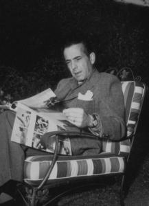 Humphrey Bogart at home, circa 1949.MPTV - Image 0015_1175