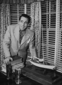 Humphrey Bogart at home, circa 1945.MPTV - Image 0015_1176