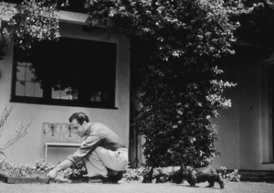 Humphrey Bogart at home with his dogs, circa 1944.MPTV - Image 0015_1193