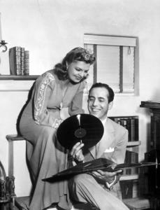 Humphrey Bogart and his third wife, Mayo Methot, at home, circa 1944.MPTV - Image 0015_1249