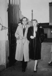 Humphrey Bogart and his third wife, Mayo Methot, circa 1940.MPTV - Image 0015_1252