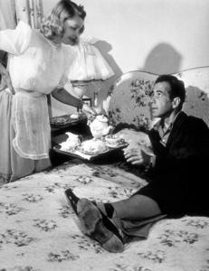Humphrey Bogart and his third wife, Mayo Methot, at home, circa 1944.MPTV - Image 0015_1253