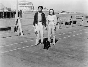 Humphrey Bogart and his third wife, Mayo Methot, in Avalon, Catalina Island circa 1941 - Image 0015_1255