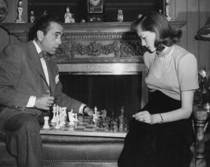 Humphrey Bogart and Lauren Bacall at their Benedict Canyon home circa 1949 - Image 0015_1281