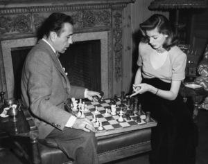 Humphrey Bogart and Lauren Bacall at their Benedict Canyon home circa 1949 - Image 0015_1282