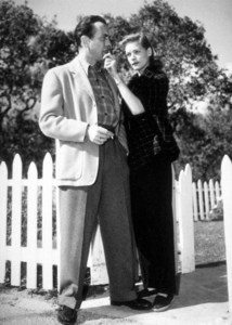 Humphrey Bogart and Lauren Bacall at their Benedict Canyon home, CA, circa 1945.MPTV - Image 0015_1286