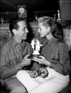 Humphrey Bogart and Lauren Bacall at their Benedict Canyon home, CA, circa 1945.MPTV - Image 0015_1297
