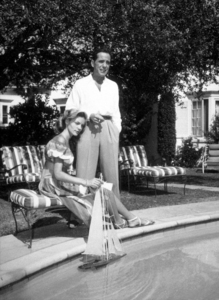 Humphrey Bogart and Lauren Bacall at their Benedict Canyon home, CA, 1948.MPTV - Image 0015_1300