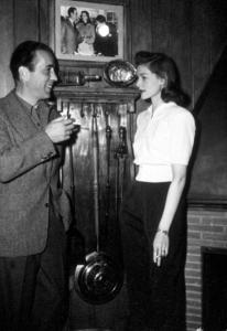 Humphrey Bogart and Lauren Bacall at home, circa 1949.MPTV - Image 0015_1306