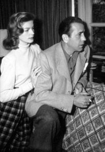 Humphrey Bogart and Lauren Bacall at home, circa 1945.MPTV - Image 0015_1307