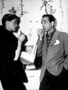 Humphrey Bogart and Lauren Bacall at home circa 1949 - Image 0015_1310