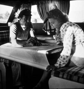 "Humphrey Bogart and his third wife, Mayo Methot, on their boat,""Sluggy,"" circa 1943.MPTV - Image 0015_1359"