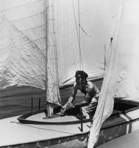 "Humphrey Bogart on his boat ""Sluggy""circa 1943 - Image 0015_1360"