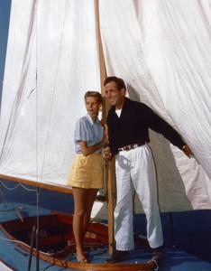 Humphrey Bogart and Lauren Bacall on their honeymoon in Newport, California1945 - Image 0015_1423