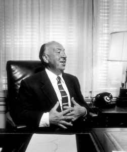 Alfred Hitchcock in his office at Universal Studios Ca, 1957. © 1978 Sid Avery - Image 0017_0032