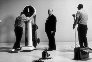 """Alfred Hitchcock on the set of""""Alfred Hitchcock Presents.""""1956/CBS. © 1978 Gene Trindl - Image 0017_0049"""