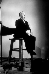 """Alfred Hitchcock on the set of""""Alfred Hitchcock Presents.""""1956/CBS. © 1978 Gene Trindl - Image 0017_0057"""