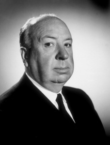 """Alfred Hitchcock on the set of""""Alfred Hitchcock Presents."""" © 1962 CBSPhoto by Gabi Rona - Image 0017_0317"""
