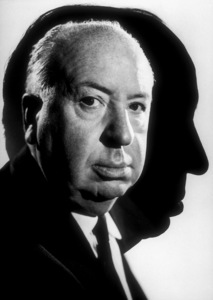 "Alfred Hitchcock on the set of""Alfred Hitchcock Presents."" © 1962 CBSPhoto by Gabi Rona - Image 0017_0354"