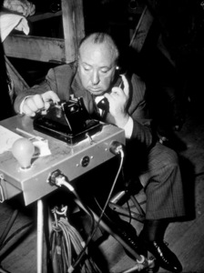 """Alfred Hitchcock on the set of """"Dial M For Murder"""" 1972 Universal - Image 0017_0367"""