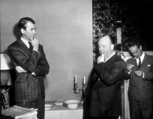 """Director Alfred Hitchcock on the set of """"Rope"""" with James Stewart1948 Warner Bros. - Image 0017_0377"""