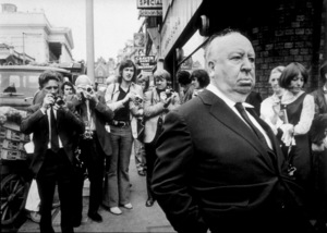 """Alfred Hitchcock on the set of""""Frenzy."""" © 1972 Universal - Image 0017_0378"""