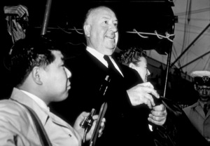"Alfred Hitchcock in Yokohama, Japan ona promotional tour for ""Psycho,"" c. 1960. - Image 0017_0384"