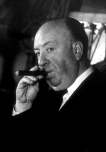 """Alfred Hitchcock on the set of""""Alfred Hitchcock Presents.""""January 12, 1956/CBS. © 1978 Gene Trindl - Image 0017_0504"""