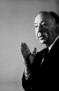 """Alfred Hitchcock on the set of""""Alfred Hitchcock Presents.""""January 12, 1956/CBS. © 1978 Gene Trindl - Image 0017_0508"""