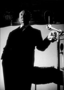 """Alfred Hitchcock on the set of""""Alfred Hitchcock Presents.""""January 12, 1956/CBS. © 1978 Gene Trindl - Image 0017_0510"""