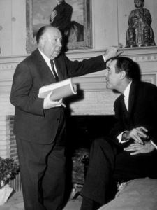 "Alfred Hitchcock with Henry Fonda on the set of ""The Wrong Man.""1957 Warner - Image 0017_2005"