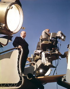 """Alfred Hitchcockduring filming of """"Torn Curtain""""1966 Universal**I.V. - Image 0017_2055"""