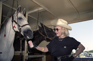 Zsa Zsa Gabor at an equestrian event1986© 1986 Wallace Seawell - Image 0018_0336