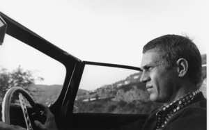 Steve McQueen in his 1957 Jaguar XK-SS in Hollywood, CA, driving through Nichols Canyon, 1960 © 1986 Sid Avery - Image 0019_0004