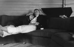 Steve McQueenwith wife Neile at their home on Solar Dr. in the Hollywood Hills, CA1960 © 1978 Sid Avery - Image 0019_0069