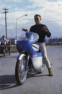 """Steve McQueen in Japan during the filming of """"The Sand Pebbles"""" 1966  © 1978 Ted Allan"""