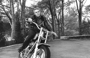 Steve McQueen on his Motorcycle circa 1970 © 1978 Gunther - Image 0019_0867