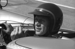 Steve McQueen in his Lola T70 at the Riverside Raceway in Riverside, CA1966 © 1978 Chester Maydole - Image 0019_0879