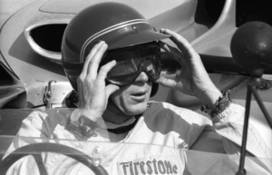 Steve McQueen in his Lola T70 at the Riverside Raceway in Riverside, CA1966 © 1978 Chester Maydole - Image 0019_0881