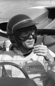 Steve McQueen in his Lola T70 at the Riverside Raceway in Riverside, CA1966 © 1978 Chester Maydole - Image 0019_0882