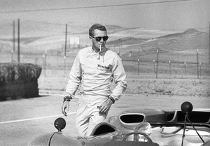 Steve McQueen and his Lola T70 at Riverside Raceway in Riverside, California 1966 © 1978 Chester Maydole - Image 0019_0884