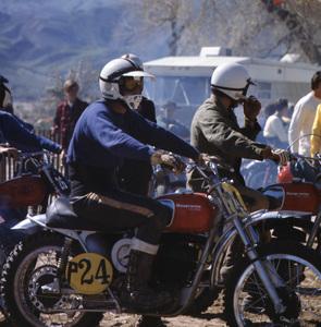 Steve McQueen racing on his Husqvarna motorcylecirca 1970s © 1978 Chester Maydole - Image 0019_0889