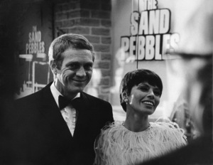 """Steve McQueen and wife Neile Adams at """"The Sand Pebbles"""" premiere1966 © 1978 Chester Maydole - Image 0019_0896"""