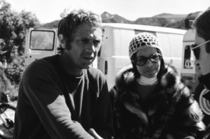 Steve McQueen with wife Neile Adams dirt bike racing at Indian Dunescirca 1970 © 1978 Chester Maydole - Image 0019_0902