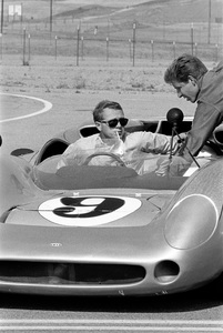 Steve McQueen in his Lola T70 at the Riverside Raceway in Riverside, CA1966 © 1978 Chester Maydole - Image 0019_0916