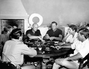 """The Magnificent Seven""Robert Vaughn, Steve McQueen, Horst Buchholz, Yul Brynner, Brad Dexter, Charles Bronson, James Coburn1960 United Artists** I.V. - Image 0019_0959"