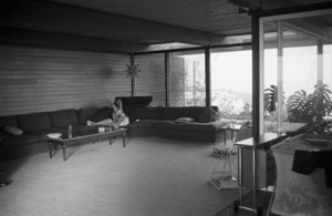 Steve McQueen and wife Neile at their Hollywood Hills home on Solar Drive1960© 1978 Sid Avery - Image 0019_1004